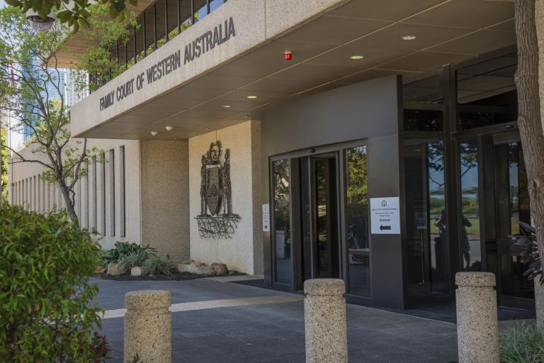 Perth city entrance to the Family Court of Western Australia